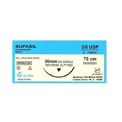 Suture thread 3/0 Silicon Supasil - Supa